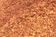 Bauxite mine raw bauxite on surface. Bauxite mine, raw weathered bauxite sedimentary rock on surface Stock Photo