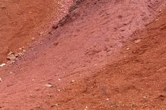 Bauxite mine raw bauxite on surface. Bauxite mine, raw weathered bauxite sedimentary rock on surface Royalty Free Stock Photo