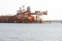 Bauxite mine shipment Stock Image