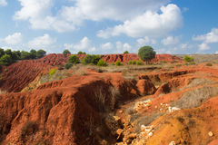 Bauxite mine view. A view of a beautiful italian bauxite mine Royalty Free Stock Images