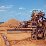 Bauxite mine. At Weipa, North Queensland, Australia Royalty Free Stock Images
