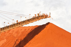 Bauxite mining. Piles of mining Bauxite in Weipa, Queensland, Australia Bauxite is an aluminium ore and is the main source of aluminium Stock Photography