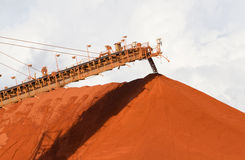 Bauxite mining. Piles of mining Bauxite in Weipa, Queensland, Australia Bauxite is an aluminium ore and is the main source of aluminium Stock Photos