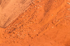 Bauxite mining. Piles of mining Bauxite in Weipa, Queensland, Australia Bauxite is an aluminium ore and is the main source of aluminium Royalty Free Stock Photos