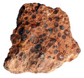 Bauxite piece separately Stock Photos