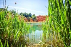 Bauxite Quarry Lake in Otranto, Italy Stock Images