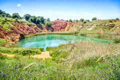 Bauxite Quarry Lake in Otranto, Italy Stock Photography