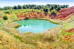 Bauxite Quarry Lake in Otranto, Italy Royalty Free Stock Photos