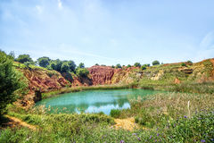 Bauxite Quarry Lake in Otranto, Italy Stock Photo