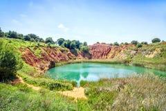 Bauxite Quarry Lake in Otranto, Italy Stock Photo