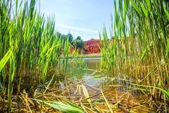 Bauxite Quarry Lake in Otranto, Italy Stock Photography