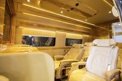 BAV设计的美好的公共汽车内部 库存图片