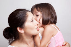 Bavardage de grand-mère et de petite-fille Photos libres de droits