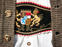 Bavaria. Part of a typical bavarian traditional clothing (showing the coat of arms of bavaria Stock Photo