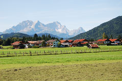 Bavaria. The village of Krün in the Karwendel mountains (Bavaria, Germany Royalty Free Stock Photography