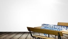 Bavaria Beer bench set table and bench with backrest Oktoberfest Stock Photography