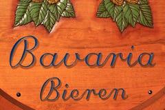 Bavaria beer brand name royalty free stock image