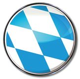 Bavaria button. Button with flag of Bavaria Royalty Free Stock Images