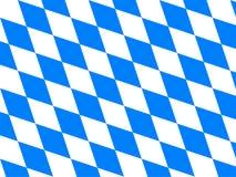 Bavaria flag. The flag of Bavaria / Bayern Stock Image