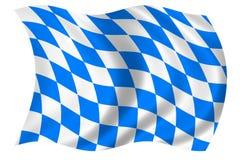 Bavaria Flag. Isolated on white background Stock Images