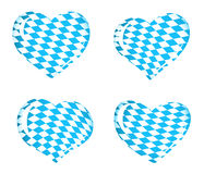 Bavaria flag as Heart icons Royalty Free Stock Photo