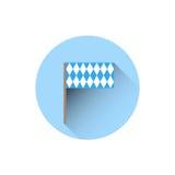 Bavaria Flag Icon Oktoberfest Festival Holiday Concept. Flat Vector Illustration Royalty Free Stock Photo