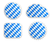 Bavaria flag labels Royalty Free Stock Photography