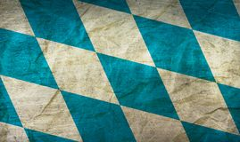 Bavaria Flag on Paper. Flag on an old Paper Texture Stock Photography
