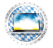 Bavaria Flag Round Computer Stock Images