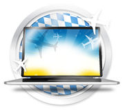 Bavaria Flag Round Computer Royalty Free Stock Image