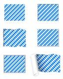 Bavaria flag set Stock Photo