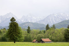 Bavaria, Germany. Panorama in the alps in Germany Stock Photos