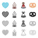 Bavaria Germany holiday. Bavaria Germany holiday and other  icon in cartoon style.Products flour food icons in set collection Royalty Free Stock Image
