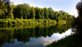 Bavaria, Germany Isar river waterfront Stock Images