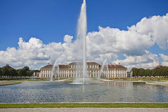 Bavaria, Germany - Schleissheim Castle and the fountain Stock Photo