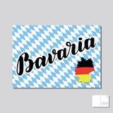 Bavaria hand drawn lettering.  lettering illustration. Template for Traditional German Oktoberfest bier festival Stock Images