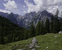 Bavaria. Hiking through the Bavarian Alps of Southern Germany royalty free stock photo