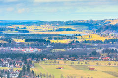 Bavaria landsape aerial view with houses Royalty Free Stock Photos