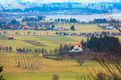 Bavaria landsape aerial view with houses Stock Photography