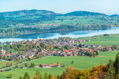Bavaria landscape from Neuschwanstein castle Royalty Free Stock Photography