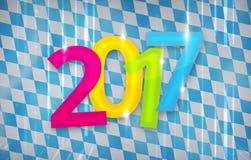 2017 bavaria munich oktoberfest background new year design. Graphic illustration design Royalty Free Stock Photography