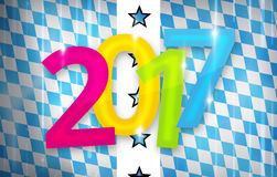 2017 bavaria munich oktoberfest background new year design. Graphic illustration modern image graphic Royalty Free Stock Photography