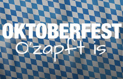 Bavaria Oktoberfest festival flag design Royalty Free Stock Image