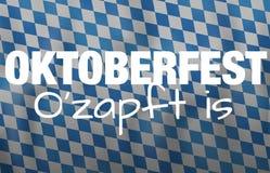 Bavaria Oktoberfest festival flag design Royalty Free Stock Image