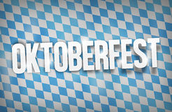 Bavaria Oktoberfest Flag Nice Font Royalty Free Stock Photos