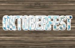 Bavaria Oktoberfest Flag Wood Design Stock Images