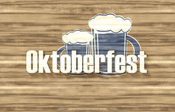 Bavaria Oktoberfest Flag Wood Design Royalty Free Stock Photography