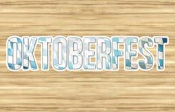 Bavaria Oktoberfest Flag Wood Design Royalty Free Stock Image