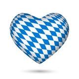 Bavaria Oktoberfest heart. Isolated on white background Stock Photography