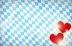 Bavaria Oktoberfest red hearts Royalty Free Stock Images